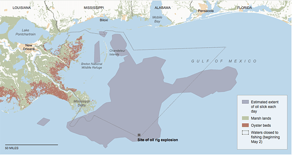 Tracking the Oil Spill