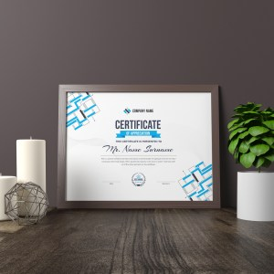 Apollo Landscape Certificate Template