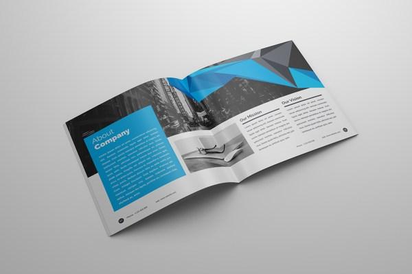 Apollo Professional 24 Pages Square Magazine Template