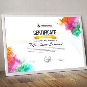 Artemis Landscape Certificate Template