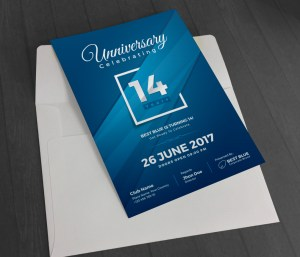 Artemis Stylish Anniversary Invitation Template