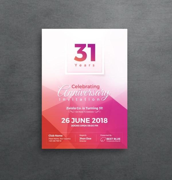 Athena Elegant Anniversary Invitation Template