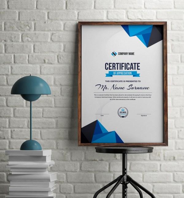 Atlas Elegant Portrait Certificate Template