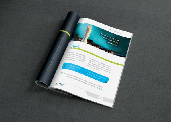 Bravo Premium Business Bi-Fold Brochure Template