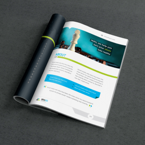 Bravo Premium Business Bi-Fold Brochure Template