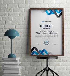 Chevron Professional Portrait Certificate Template