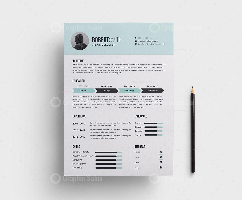 Classy Light Blue Resume Template