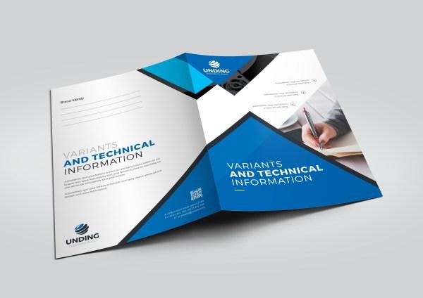 Classy Modern Corporate Presentation Folder Template