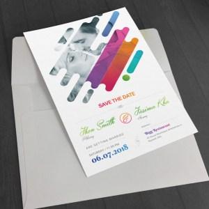 Colorful Creative Elegant Wedding Invitation Template