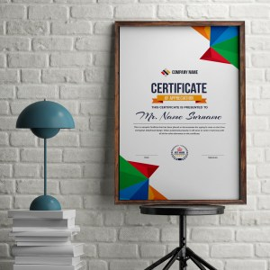 Colorful Portrait Certificate Template