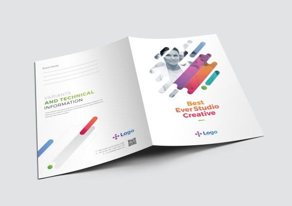 Colorful Professional Corporate Presentation Folder Template