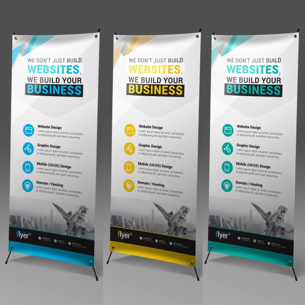 Construction Roll-Up Banner Design Template 1