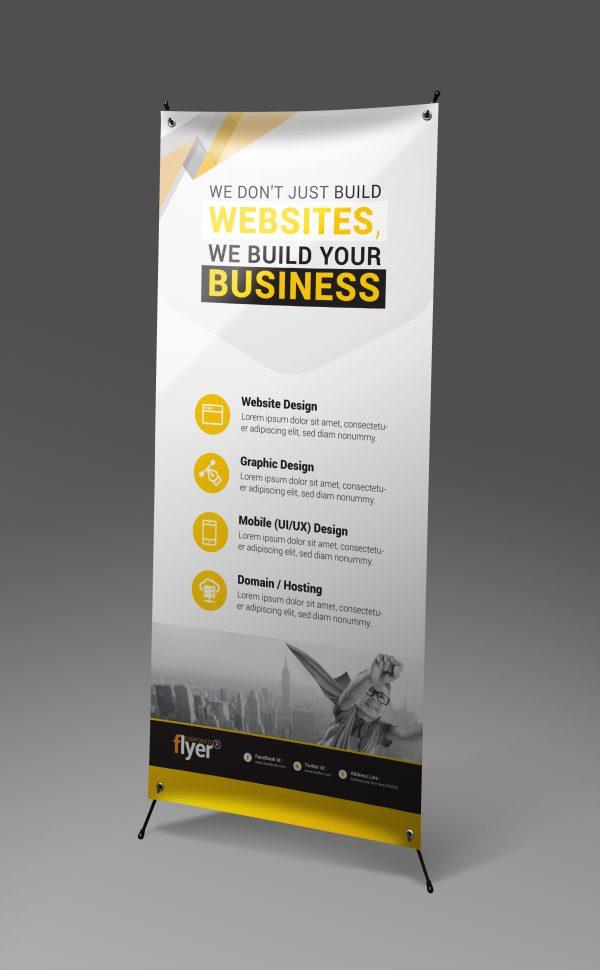 onstruction Roll-Up Banner Design Template