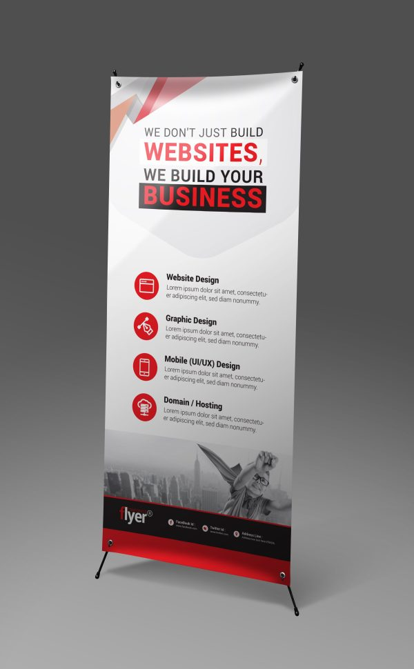 Construction Roll-Up Banner Design Template 3