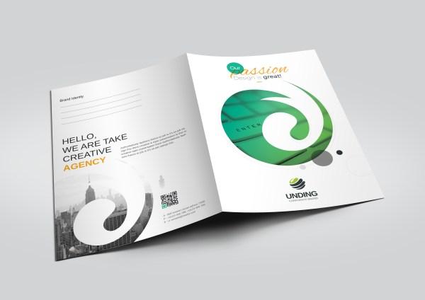 Cyclone Modern Corporate Presentation Folder Template