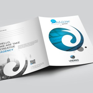 Cyclone Modern Corporate Presentation Folder Template
