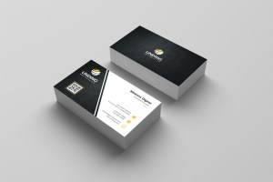 Dark Minimalist Corporate Business Card Template