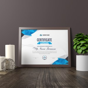 Diamond Elegant Professional Certificate Template