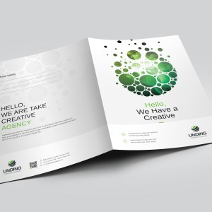 Dots Modern Corporate Presentation Folder Template