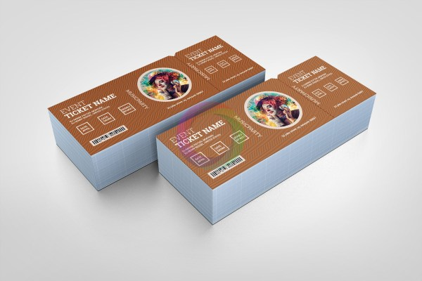 Drama Elegant Event Ticket Template