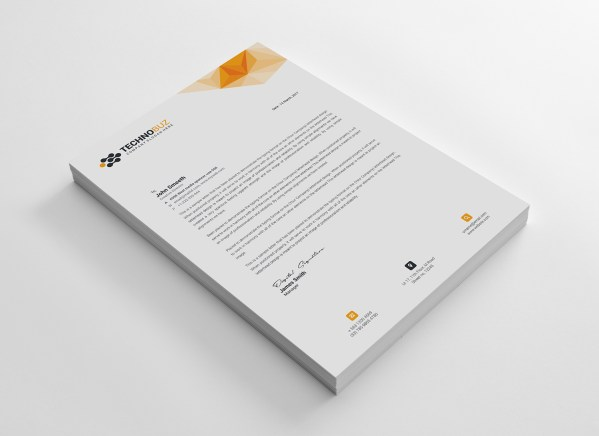 Echo Professional Corporate Letterhead Template