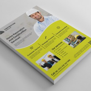 Elegant Business Construction Corporate Flyer Template