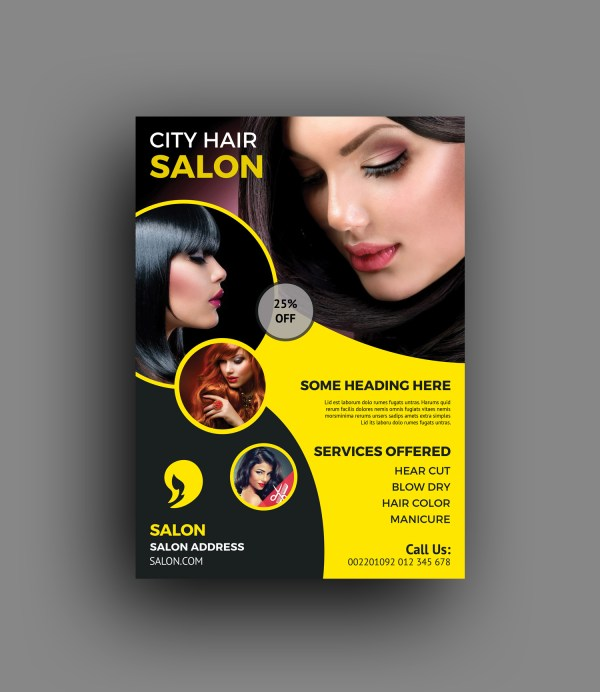 Elegant Hair Salon Flyer Template