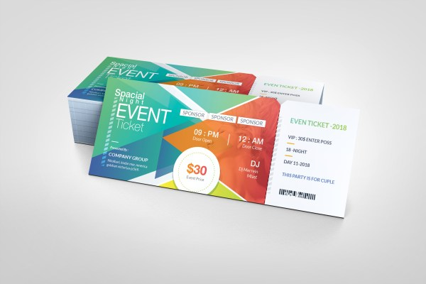 Excellent Elegant Event Ticket Template
