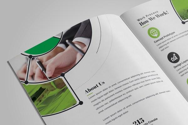 Fancy Stylish Bi-Fold Brochure Template