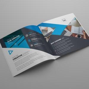 Gemini Premium Square Bi-Fold Brochure Template