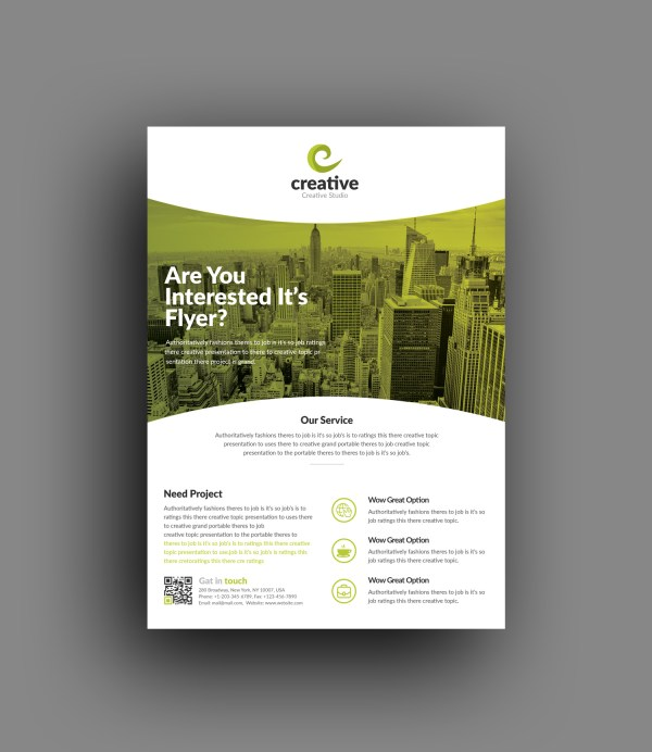 Geneva Stylish Business Corporate Flyer Template