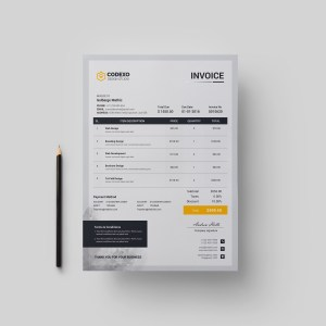 Gray Stylish Corporate Invoice Template