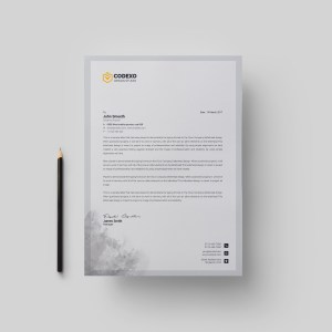 Gray Stylish Corporate Letterhead Template