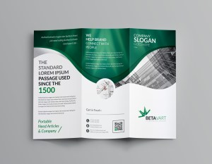 Halley Corporate Tri-Fold Brochure Template