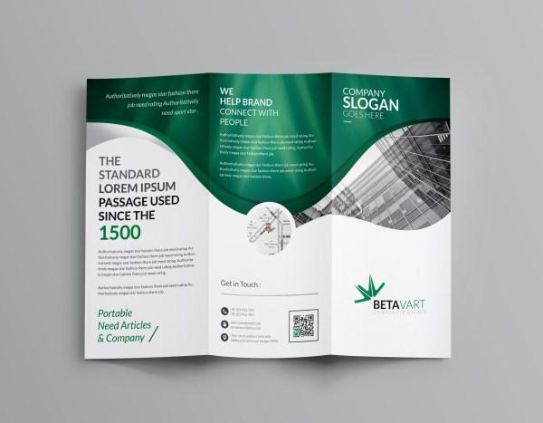 Halley Corporate Tri-Fold Brochure Template