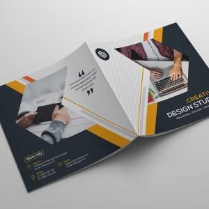 High Quality Corporate Bi-Fold Brochure Template