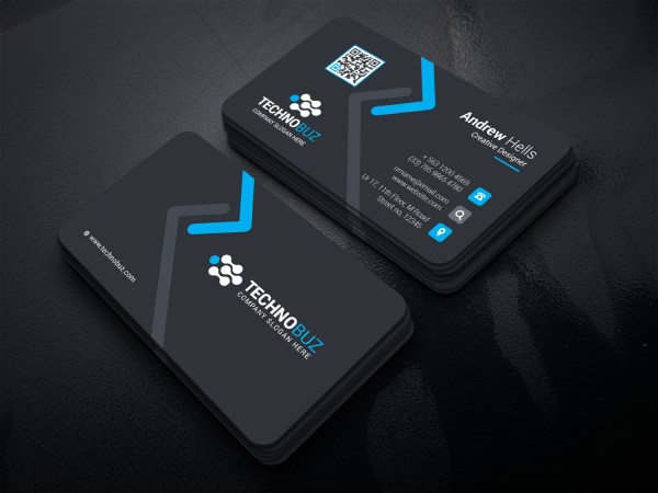High Tech Company Business Card Template