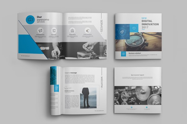Innovation Professional 16 Pages Square Magazine Template
