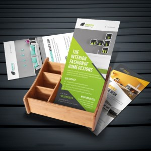Interior Home Design Rack Card Template