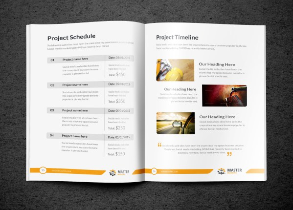 Master Premium Business Bi-Fold Proposal Template