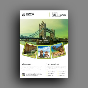 Medusa Travel Agency Flyer Design Template