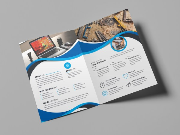 Moonstone Professional Bi-Fold Brochure Template