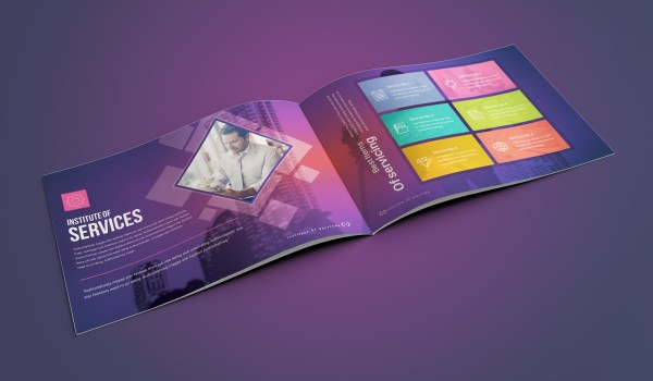 16 Pages Neptune Corporate Landscape Brochure Template