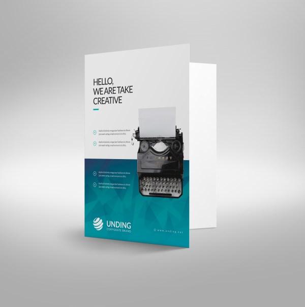 Ocean Modern Corporate Presentation Folder Template