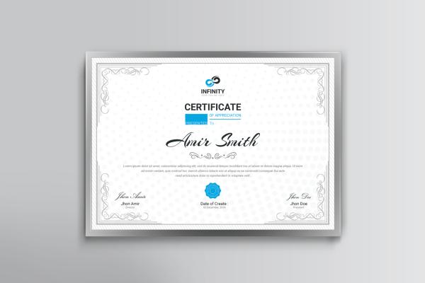 Ornament Professional Certificate Template