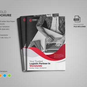 Professional Business Bi-Fold Brochure Template