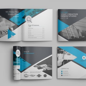 16 Pages Professional Premium Square Magazine Template
