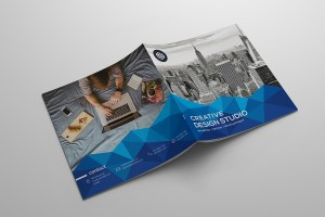 Pyramid Creative Bi-Fold Brochure Template