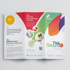 Rainbow Professional Corporate Tri-Fold Brochure Template