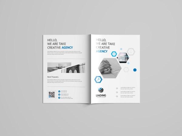 Rigel Professional Bi-Fold Brochure Template